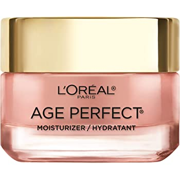 Face Moisturizer by L'Oreal Paris Skin Care I Age Perfect Rosy Tone Moisturizer for Face for Visibly Younger Looking Skin I Anti-Aging Day Cream I 1.7 oz. - Packaging May Vary