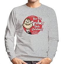Die Hard Dr Seuss Gruber Grinch Men's Sweatshirt