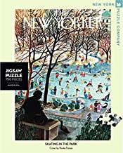 New York Puzzle Company - New Yorker Skating in the Park - 750 Piece Jigsaw Puzzle