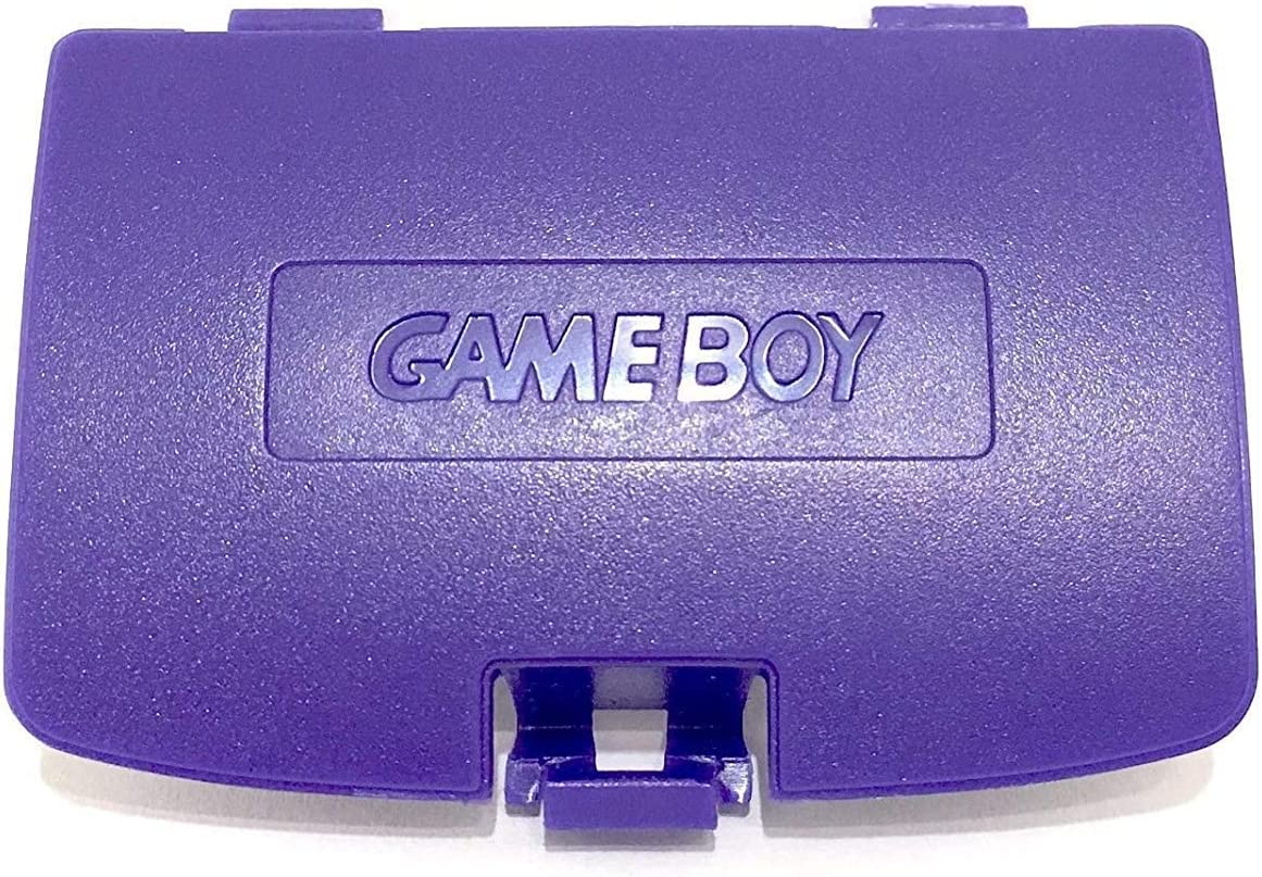 Battery Back Door Cover Pack Shell Replacement for Gameboy Color GBC Cover (7 Purple)