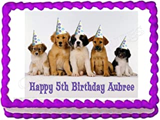 Cakes for Cures Puppy Party Birthday Cake Topper Cake Image Frosting Sheet