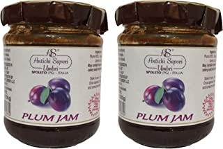 Plum Jam 200gr - 7.05oz   Pack of 2   Directly imported from selected artisanal farms in Italy