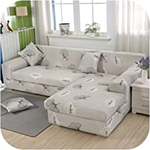 Spandex Sofa Cover for Living Room Elastic Stretch Sectional Corner Couch Cover Slipcovers, L Shape Needs to Buy 2Pcs-Yinx...
