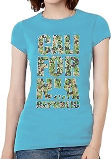 Womens California Republic Camo Short-Sleeve T-Shirt