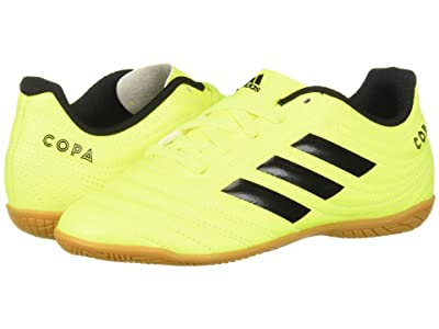 adidas Kids Copa 19.4 IN Soccer (Little Kid/Big Kid) (Solar Yellow/Black) Kids Shoes