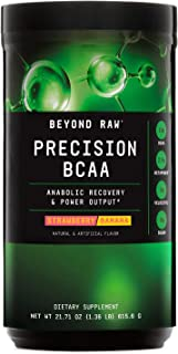 Beyond Raw Precision BCAA - Strawberry Banana, 30 Servings, Provides Energy and Supports Muscle Repair