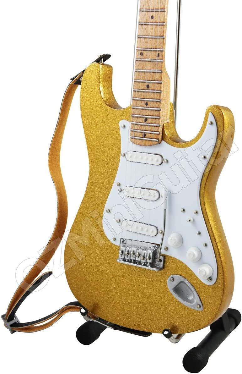OZMiniGuitar Guitarra Miniatura Eric Clapton 1996 Custom GOLDLEAF