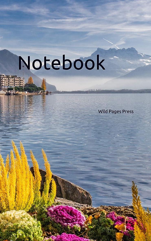 頻繁に苦味水没Notebook: lake mountains landscape Montreux Switzerland Swiss