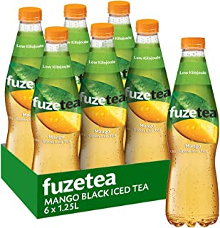 Fuze Mango Green Iced Tea Bottle, 6 x 1.25 l