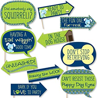 c0e5a8677c Funny Boy Puppy Dog - Baby Shower or Birthday Party Photo Booth Props Kit -  10