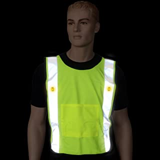 SafeWays LED Mesh Power Vest, Neon Yellow