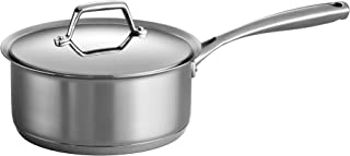 Tramontina 80101/025DS Gourmet Prima Stainless Steel, Induction-Ready, Impact Bonded, Tri-Ply Base Covered Sauce Pan, 3 Quart, Made in Brazil