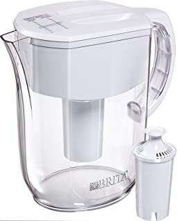 Brita 碧然德 大型 10 杯容量日常饮水壶兼过滤器 - 不含双酚A - 白色 白色 大