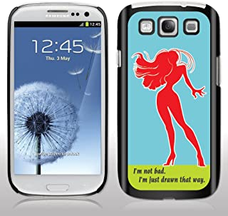 Samsung Galaxy S3 Case - Who Framed Roger Rabbit? - Movie Quote -I'm not Bad. I'm just Drawn That Way. - Black Protective Hard Cas