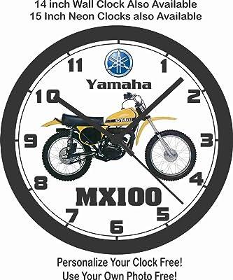 Amazon Com Yamaha Bobby Motorcycle Wall Clock Home Kitchen