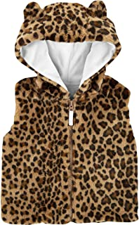 Carter's Cheetah Faux Fur Vest for Baby Girl Size Newborn Brown
