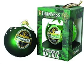 Guinness Green Collection Christmas Bauble, Gloss Finish - Tree Ornament Decoration