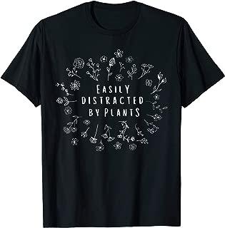 Easily Distracted By Plants Gardener Gifts Gardening Garden T-Shirt