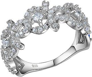خاتم زفاف للأميرة مقاس 5 8 خواتم خطبة للنساء أبيض من الفضة الإسترلينية