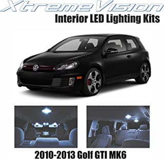 XtremeVision Interior LED for Volkswagen Golf GTI MK6 2010-2013 (8 Pieces) Cool White Interior LED Kit + Installation Tool