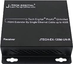 J-Tech Digital ProAV Unlimited N x N HDMI Extender Over Ethernet Cat6 Extender Matrix 12X12 8X8 Switch Switcher Extender by Single Ethernet Cable up to 400ft (Receiver)