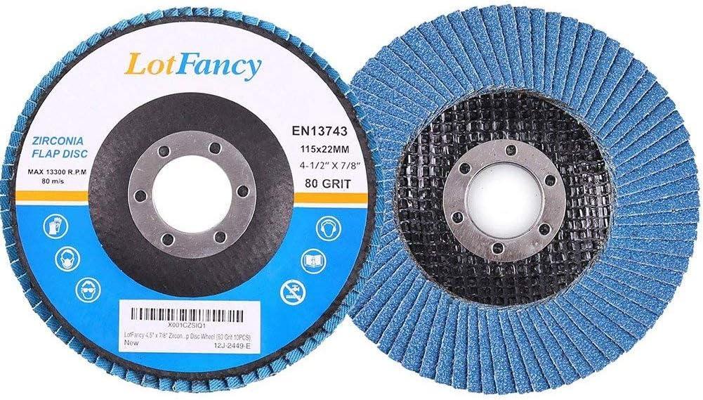 60 GRIT) Professional Flap Grinding Discs,10PCS,40//60 Flap Discs Strong Sturdy 115mm 4.5 Sanding Grinding Wheels(5 40 GRIT+5