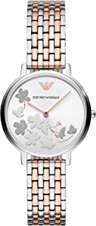 Women's Fashion Quartz Watch with Stainless-Steel Strap, Rose Gold, 14 (Model: AR11113)