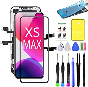 for iPhone Xs Max Screen Replacement,3D Touch LCD Display Assembly,Compatible with iPhone Xs Max Screen Replacement 6.5 inch (Model A1921, A2101, A2102, A2103, A2104) with Repair Tools