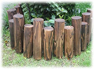 ZHANWEI Garden Fence Picket Fencing, Wooden Protective Guard Edging Decor for Outdoor Patio Flower Bed Landscape, Multiple...