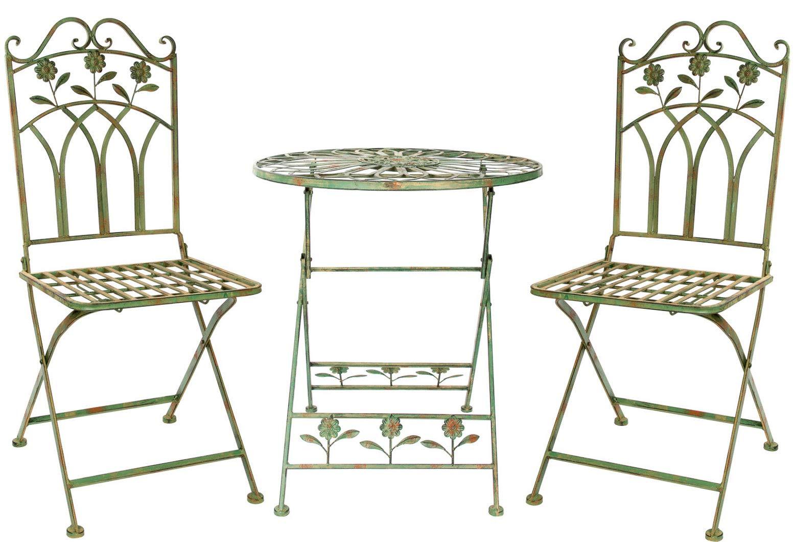 Establecer Juego jardín de Hierro Muebles de jardín de Estilo Antiguo de: Amazon.es: Jardín