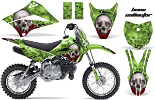 Kawasaki KLX110L 2010-2018 MX Dirt Bike Graphic Kit Sticker Decals KLX 110 L BONES GREEN