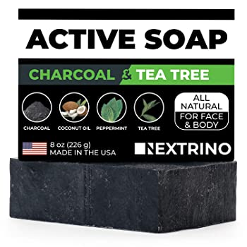 Nextino Activated Charcoal Tea Tree Soap
