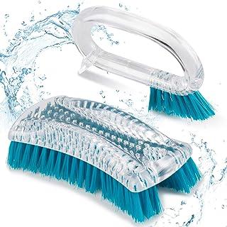 Scrub Brush Set for Cleaning, Domi-patrol Cleaning Brush Shower Scrubber Brush Kitchen Scrub Brush Stiff Bristles Grout Cl...