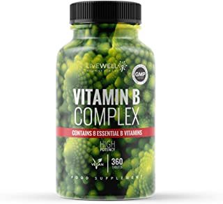Vitamin B Complex | 360 High Strength Vegan Tablets |