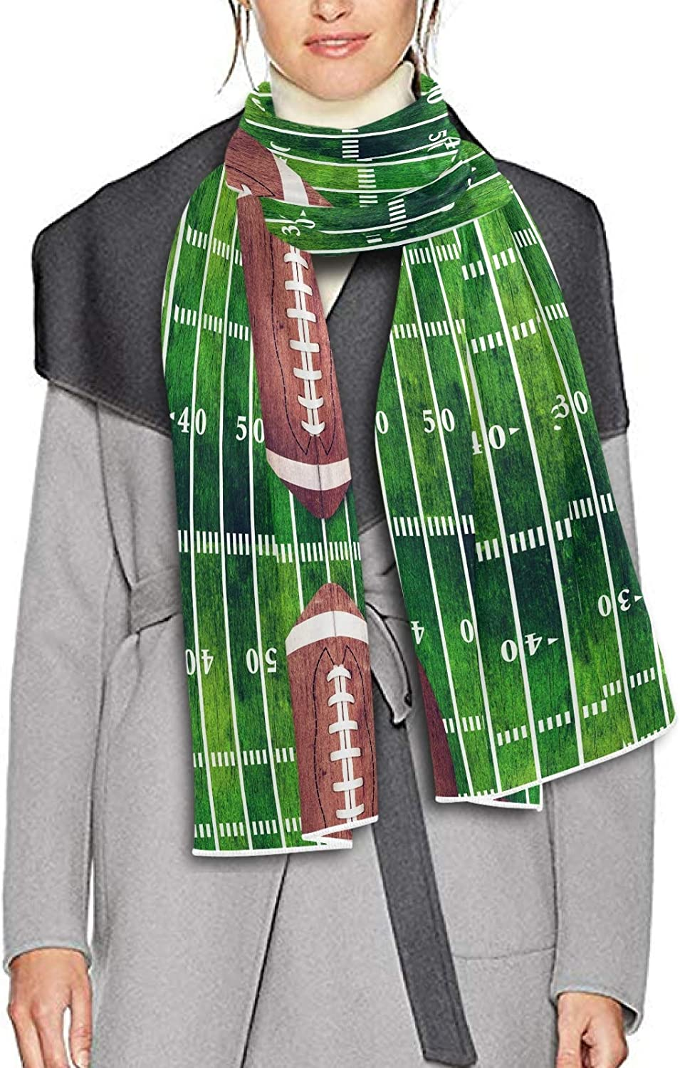 Scarf for Women and Men Football Field Shawl Wraps Blanket Scarf Thick Soft Winter Large Scarves Lightweight