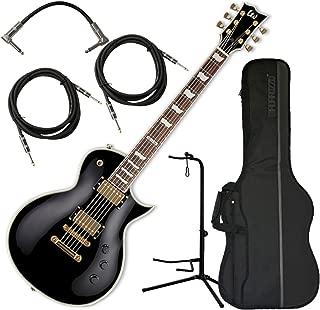 ESP LTD EC-256 Black Electric Guitar (No Distressing) w/Gig Bag, Stand, and Cables