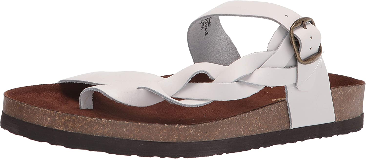 WHITE MOUNTAIN Shoes Crawford Leather Footbeds Sandal