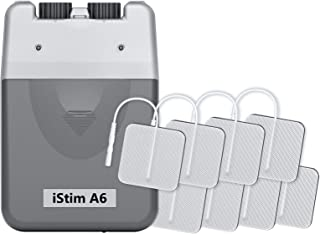 iStim A6 Analog Rechargeable Dual Channel TENS Unit/TENS Device/TENS Machine - for Pain Relief/Pain Control and Management - 3 Modes and Easy to Use (Including Electrode Pads)