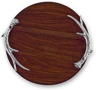 Beatriz Ball Large Western Antler Round Cutting Board, Metallic