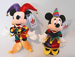 Tokyo Exclusive Disneyland Mickey and Minnie Jester Set Very Rare