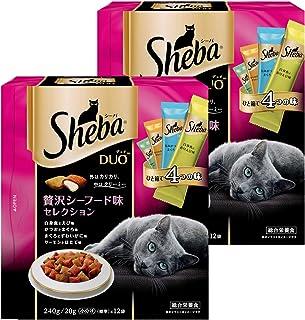 シーバ (Sheba) キャットフード デュオ 贅沢シーフード味セレクション 成猫用 240g×2個 (まとめ買い)