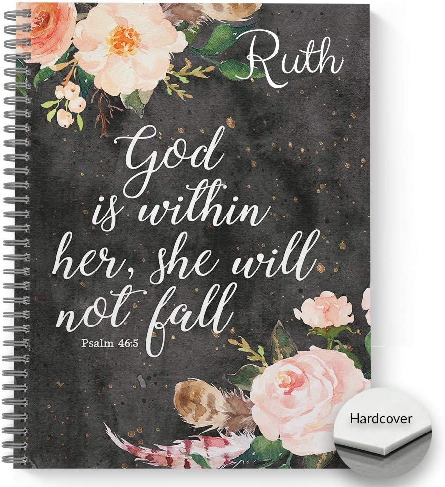 HARDCOVER She Elegant Will Max 57% OFF Not Fall Notebook Personalized Jour Religious