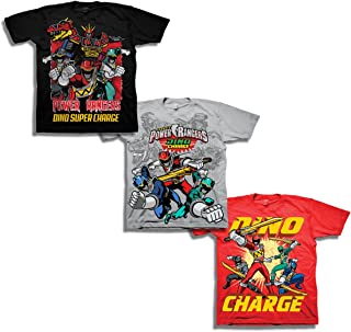 Boys' Little Boys' Super Dino Charge 3 Pack T-Shirt Bundle