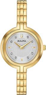 Ladies' Bulova Rhapsody Diamond Gold -Tone Stainless Steel Watch 97P144