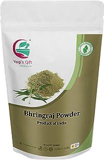 Yogi's Gift | Organic Bhringraj powder for hair growth | 8 Oz (227 grams) | Eclipta alba | Karisalankanni | False daisy | Ayurvedic herbal hair powder