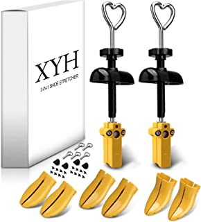 XYH 3 in 1 Shoe Stretcher,3 Pair of 4-way Shoe Stretchers Adjustment Width and Length for Men and Women.
