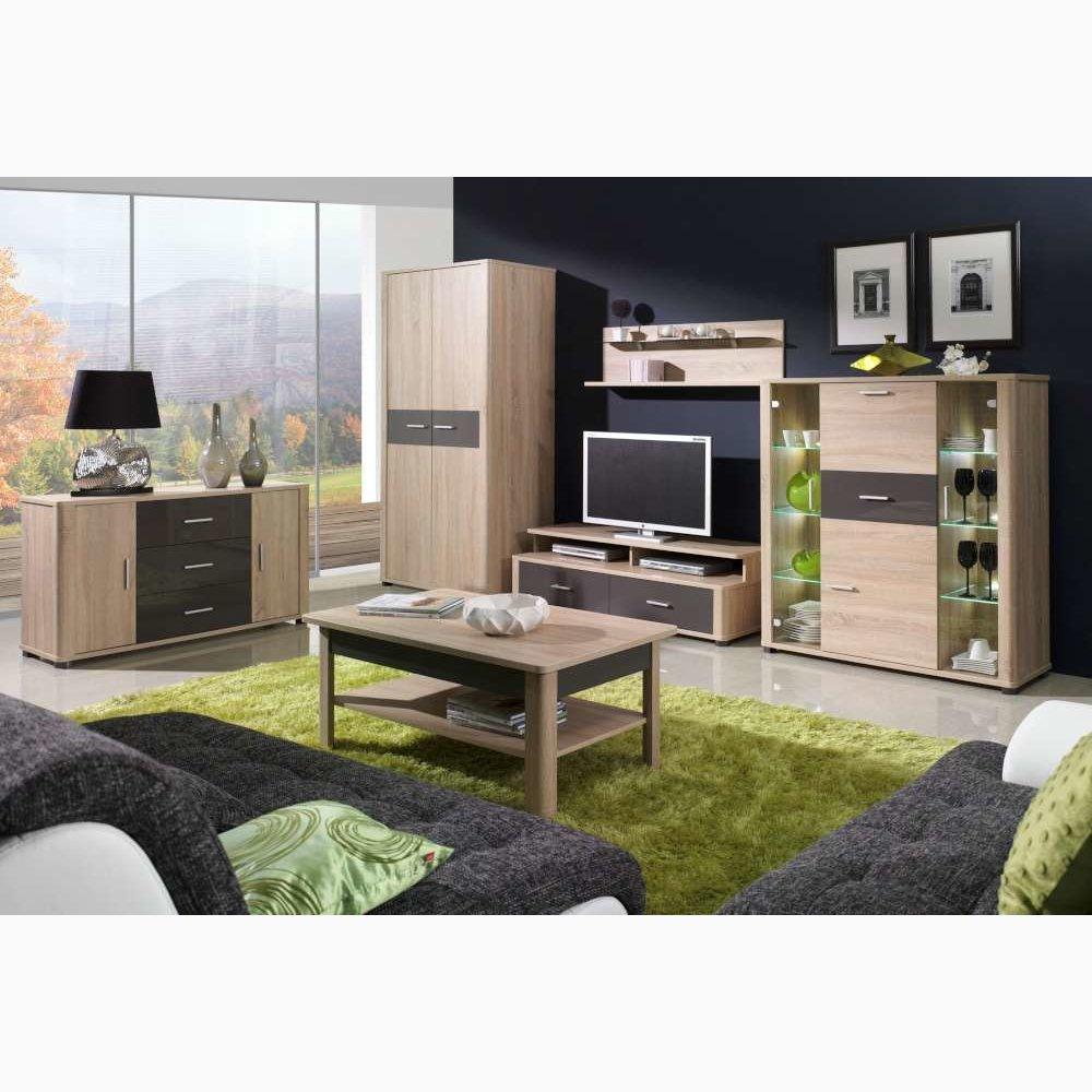 JUSTyou Fill Wohnzimmerset Wohnzimmermöbel Wohnwand Farbe Sonoma