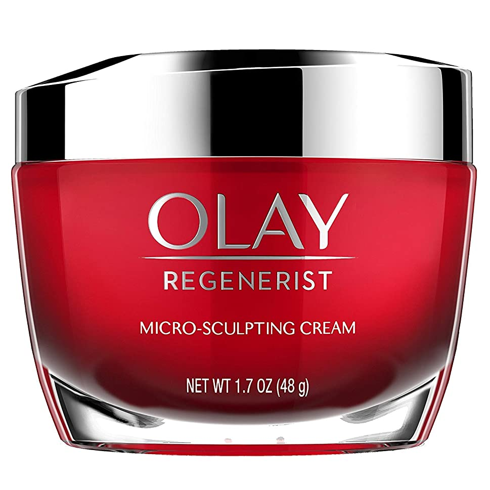 始まり狂信者白い[(オレイ) Olay] [Face Moisturizer with Collagen Peptides by Olay Regenerist, Micro-Sculpting Cream, 1.7 oz] (並行輸入品)