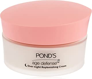 Pond's Age Defence Night Cream, Anti-aging face cream with Retinol boosters, Reduce Lines, Wrinkles and Age Spots, 50ml