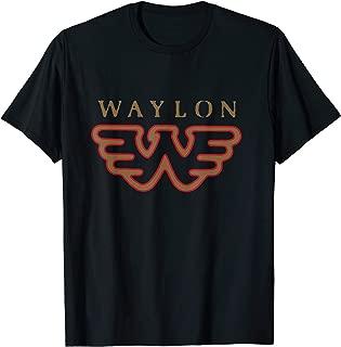 Waylon Jennings Flying W Logo - Official Merch T-Shirt